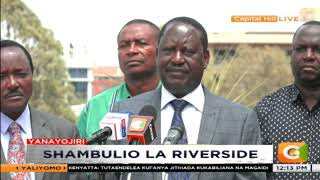 Raila Odinga : We comdemn this act of cowardice by the enemies of human civilization