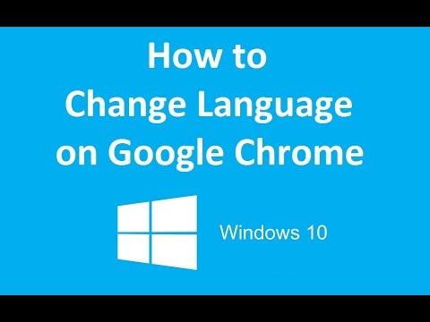 How to change language on chrome windows 10