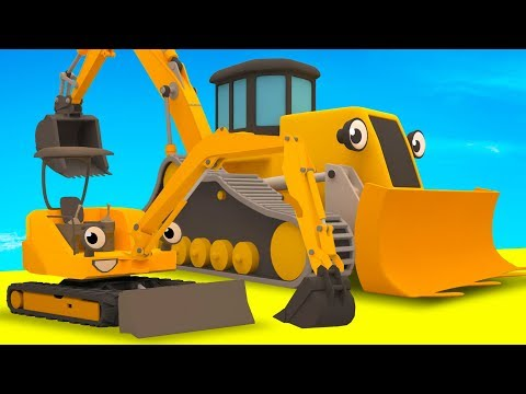 Diggers, Tractor, Excavator, Garbage Truck & Muddy Construction Vehicles For Kids   Gecko's Garage