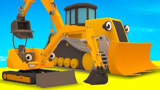 Diggers, Tractor, Excavator, Garbage Truck & Muddy Construction Vehicles For Kids | Gecko's Garage