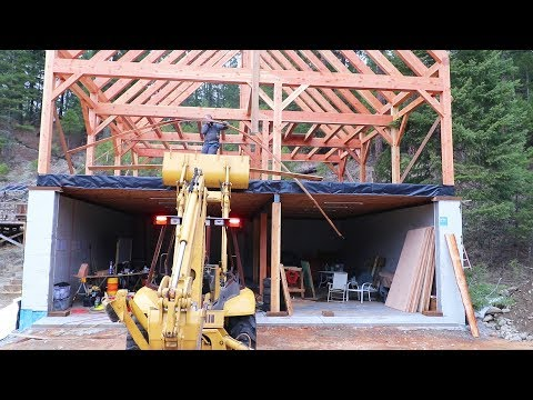 our-garage-amp-timber-frame-house-are-lookin-awesome