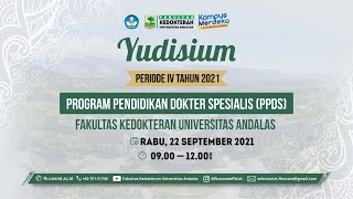 Yudisium Periode IV PPDS, Rabu, 22 September 2021 - Fakultas Kedokteran Universitas Andalas |
