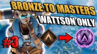 Solo Bronze to Masters Wattson Only Ep: 3   Apex Legends