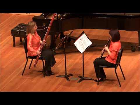 Fredonia Music Faculty: Laura Koepke & I-Fei Chen perform Poulenc's Sonata for Clarinet and Bassoon