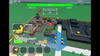 Roblox # 2 TDS how far can you go with soldiers? solo