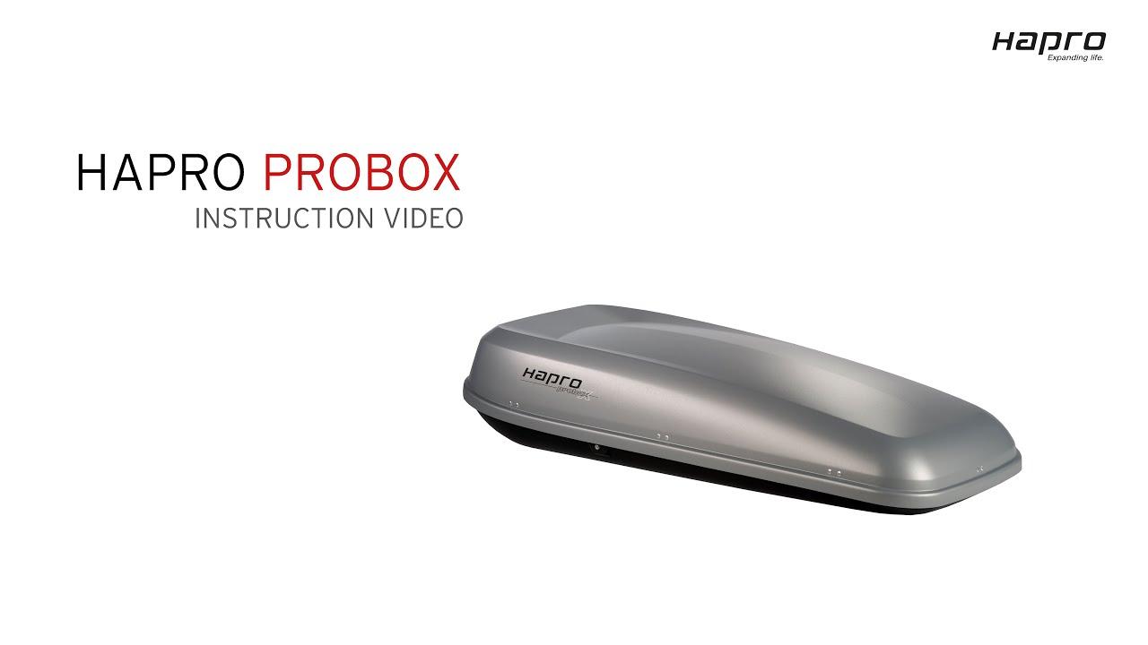 Ongekend Hapro Probox Roof box instruction GB - YouTube PQ-77