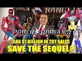 CAN $1 BILLION IN TOY SALES SAVE THE SEQUEL?  Power Rangers Movie Update!