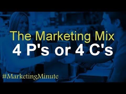 "Marketing Minute 078: ""The 4 C's of Marketing vs. The 4 P's of Marketing"" (Marketing Basics)"