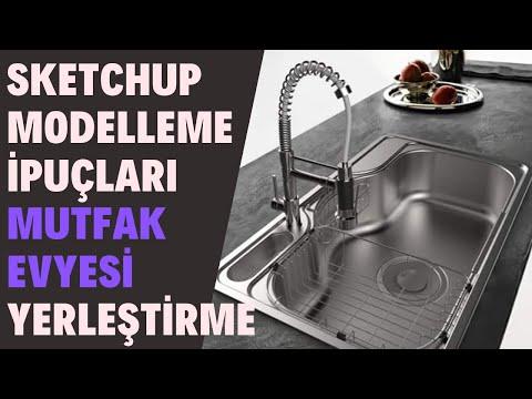 Sketchup Modelleme İpuçları : Mutfak Evyesi Yerleştirme