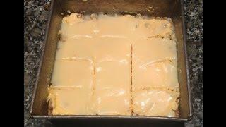 White Chocolate Lemon Squares  - A Bakeyourway Original Recipe