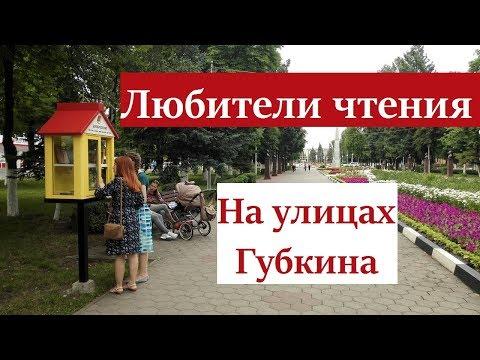 Любители чтения на улицах Губкина.