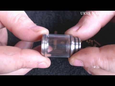 The UKVA MAXI   Titanium and 24k gold atty