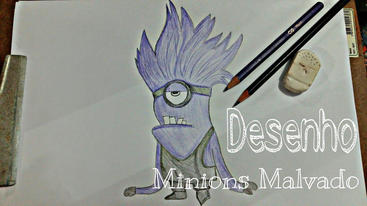 Como Desenhar Minions Malvado Drawing Youtube