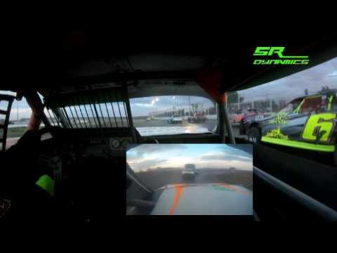 IMCA Stock Car in car camera - I-76 Speedway 7-3-17 Josh Schweitzer