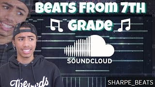Reacting To My Old Beats!! (Beats From 7th Grade) | Sharpe