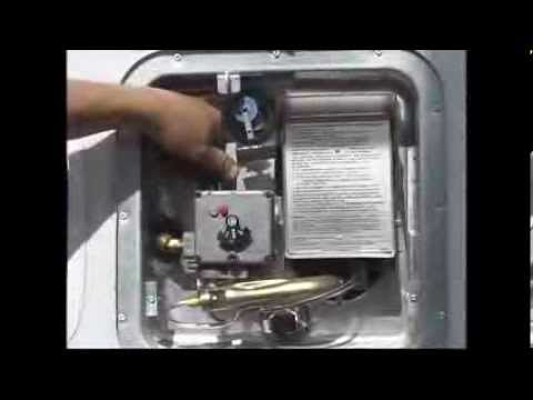 4 How to light a RV water heater pilot - YouTube