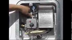4. How to light a RV water heater pilot