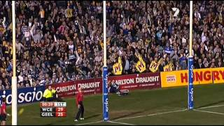 West Coast Eagles vs Geelong 2011 First Half Highlights