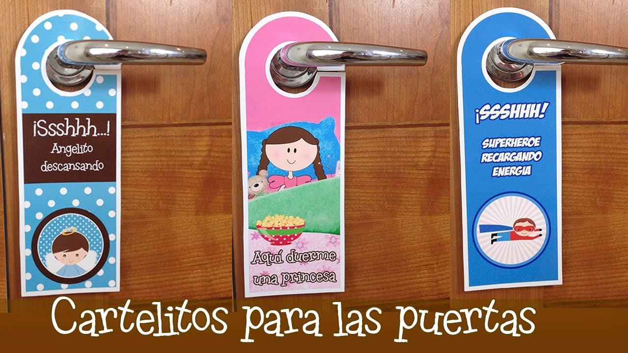 Colgadores para puertas divertidos manualidades para - Carteles para puertas habitaciones ...