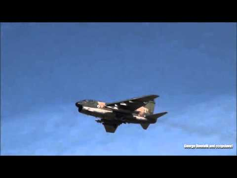 Fighter Jet and Phantom doing low pass..