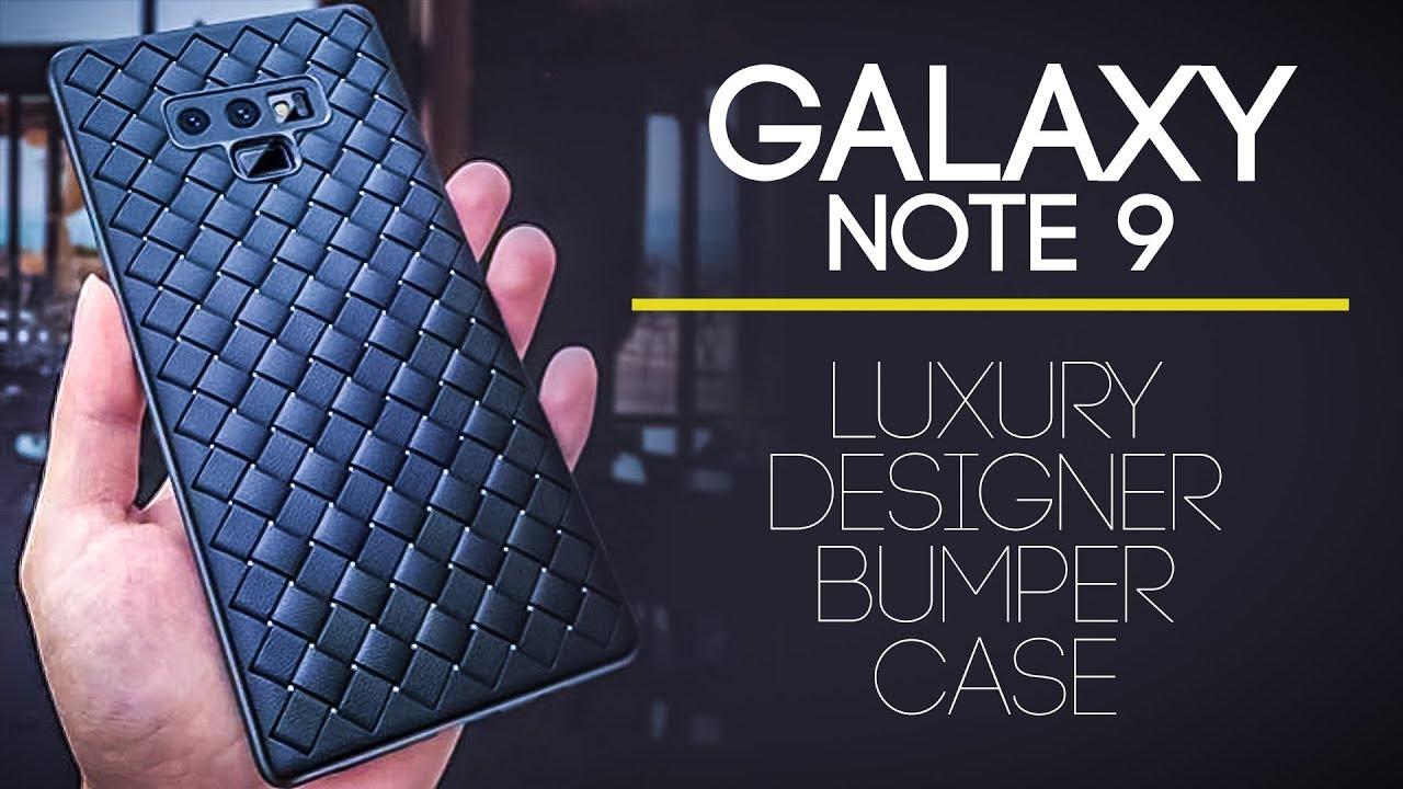 the latest 3f330 3cbe9 Samsung Galaxy Note 9 Back Case - Luxury Designer Leather Bumper Case