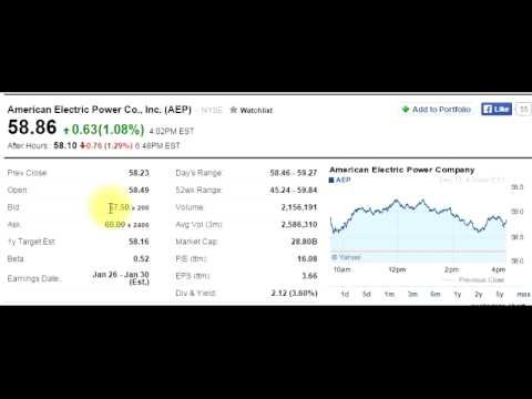 Stock Table - How to read a stock table - YouTube
