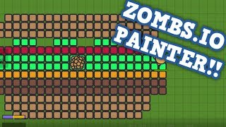 ZOMBS.IO PAINTER #1 // Cheeseburger Base (Zombs.io Funny Moments)