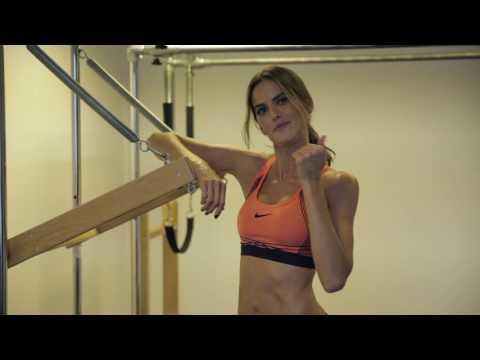 Izabel Goulart does pilates  Supermodel prep for Victoria's Secret  VOGUE PARIS