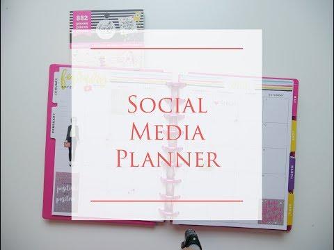 Social Media Planner Set Up | YouTube Planner | Happy Planner Trendsetter