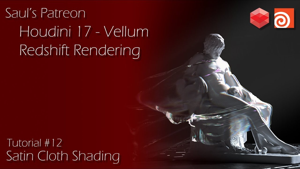 Patreon Course Preview - #12 - Houdini 17 Vellum Cloth & Redshift