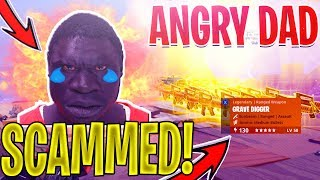 ANGRY AFRICAN DAD Bekommt SCAMMED *Trolling SCAMMERS* In Fortnite Save The World