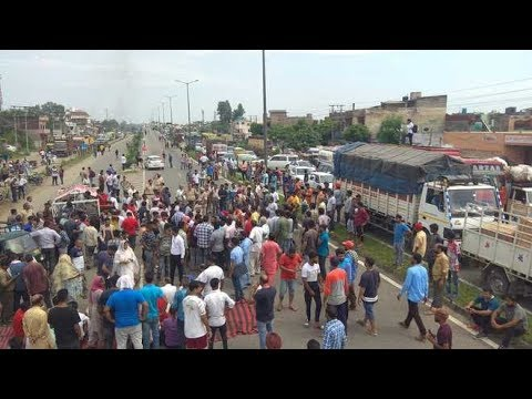 Dalits protest demolition of Ravidas temple, choke roads