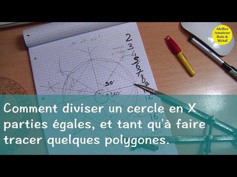 comment diviser le cercle en x parties egales