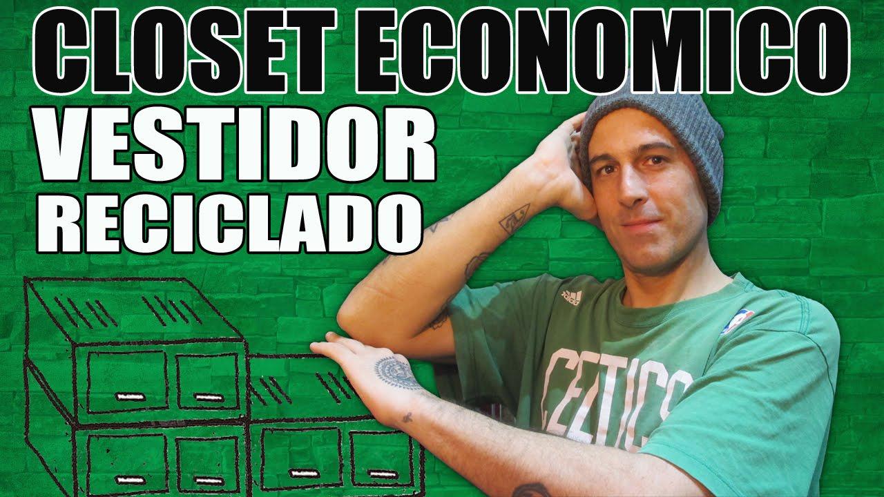 40 Hacer Closet Económico Vestidor Reciclado Youtube
