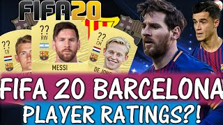 Fifa 20 fc barcelona player ratings predictions featuring messi, de jong, ligt etc and possible transfer rumours are also included! 1st song song: braveli...