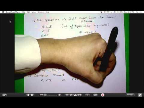 Relational Algebra summary and examples