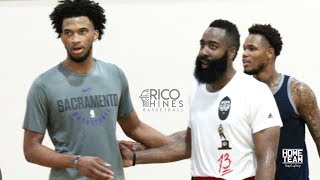 James Harden & Marvin Bagley III At Rico Hines UCLA Run - Pascal Siakam