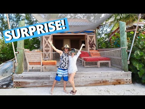 I SURPRISED My Family With A CASTAWAY CAY CABANA! | Day 2