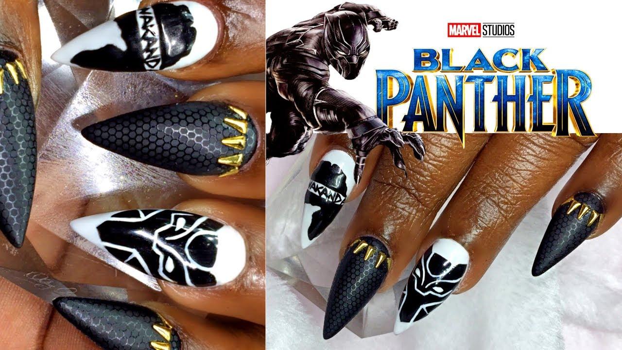 black panther inspired nail