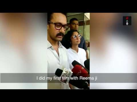 Aamir Khan Shocked On Reema Lagoo's Sudden Death