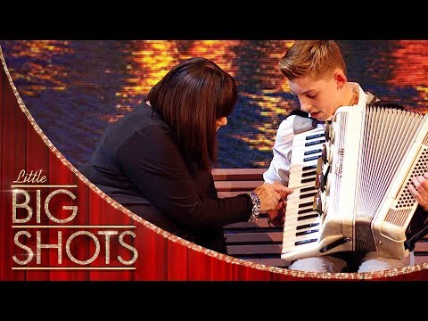 Little Big Shot Teaches Dawn The Accordion (YOUTUBE EXCLUSIVE) | Little Big Shots