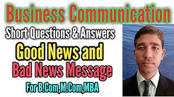 Good News & Bad News Messages Short Questions and Answers of Business Communication...