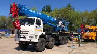 Обзор нового автокрана 40 тонн, Камаз 63501 (вездеход), стрела 34 метра