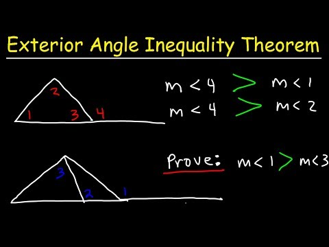 Exterior Angle Inequality Theorem With Two Column Proofs Geometry