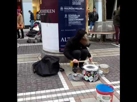 DRUM KILLER /Frankfurt main downtown  street performer/
