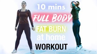 Full Body HIIT WORKOUT NO EQUIPMENT | 10 mins Simple but Intense !
