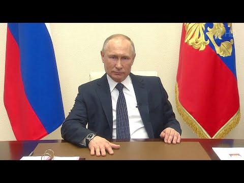 Владимир Путин выступил с новым телеобращением к россиянам.