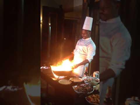 Some spectacular Swahili live cooking at Kitela Lodge in Karatu Tanzania