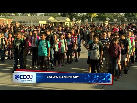 EECU is proud to bring you the Pledge of Allegiance at Calwa Elementary School