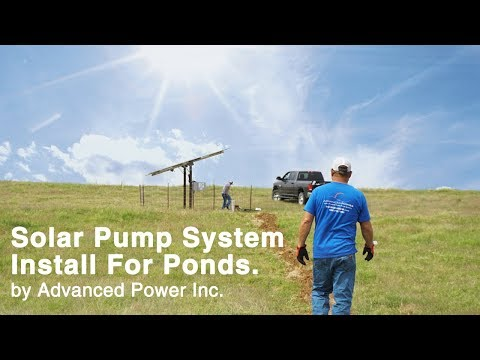 New Solar Pump System Install for a Fracking Pond by Advanced Power Inc.